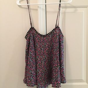 FOREVER 21 Floral Cami Loose Pink Camisole - M